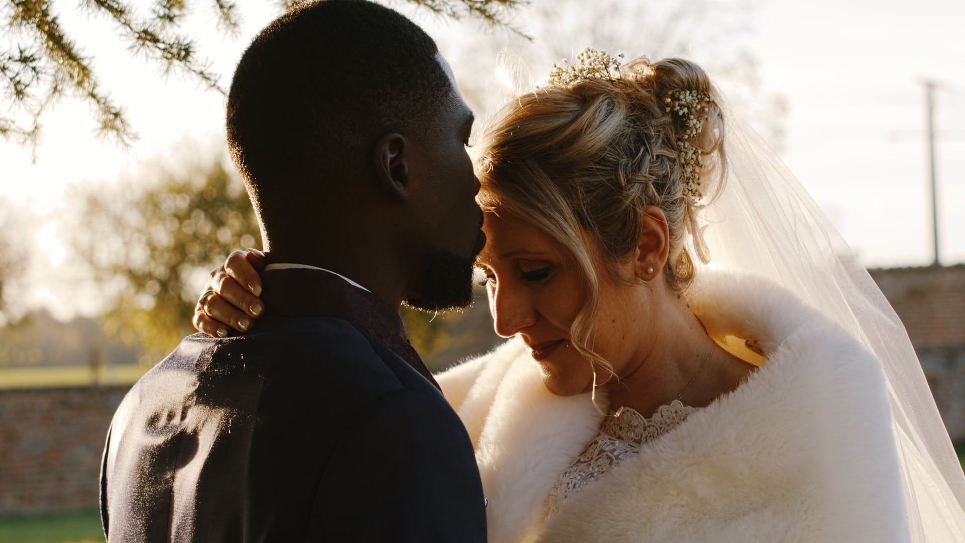 Emilie et Diadie lors de leur mariage