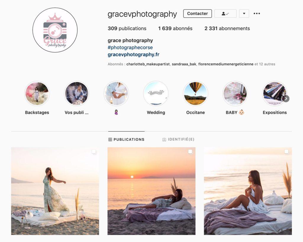 Vous pouvez suivre le travail de Grace sur instagram : @gracevphotography.