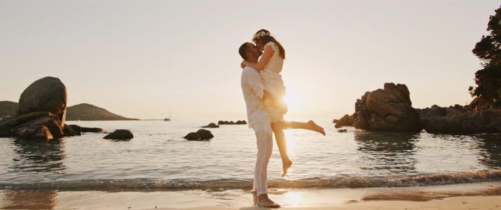 Extrait de la vidéo de mariage d'Emilie & Yannick, entre Dijon et Ajaccio.