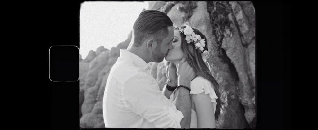 Extrait de la séance couple du film de mariage d'Emilie & Yannick, à Ajaccio.